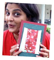 Sushmita with her book, Kairis copy